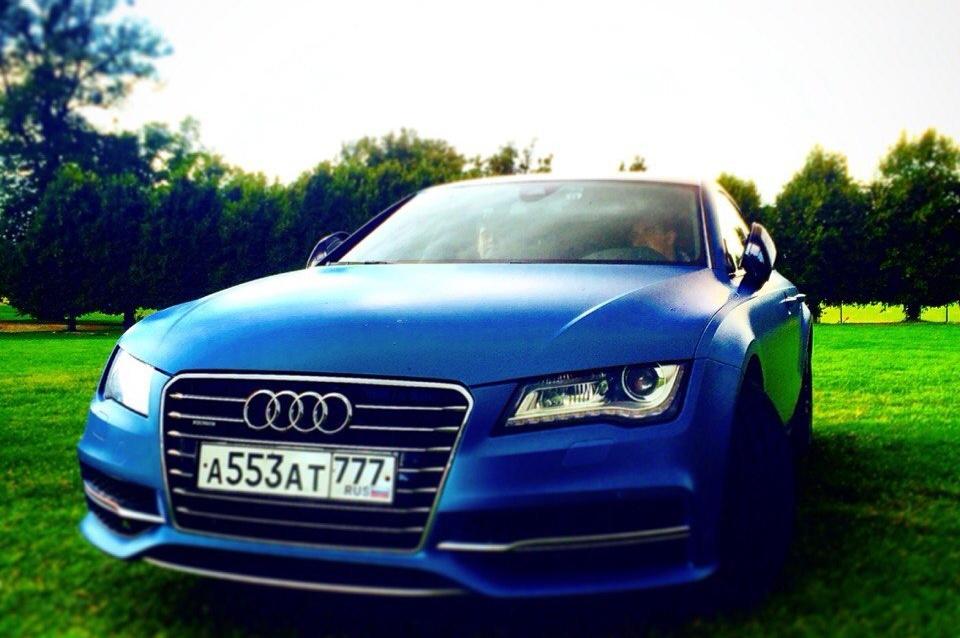 Audi S7 (4G) Audi s7 blue one