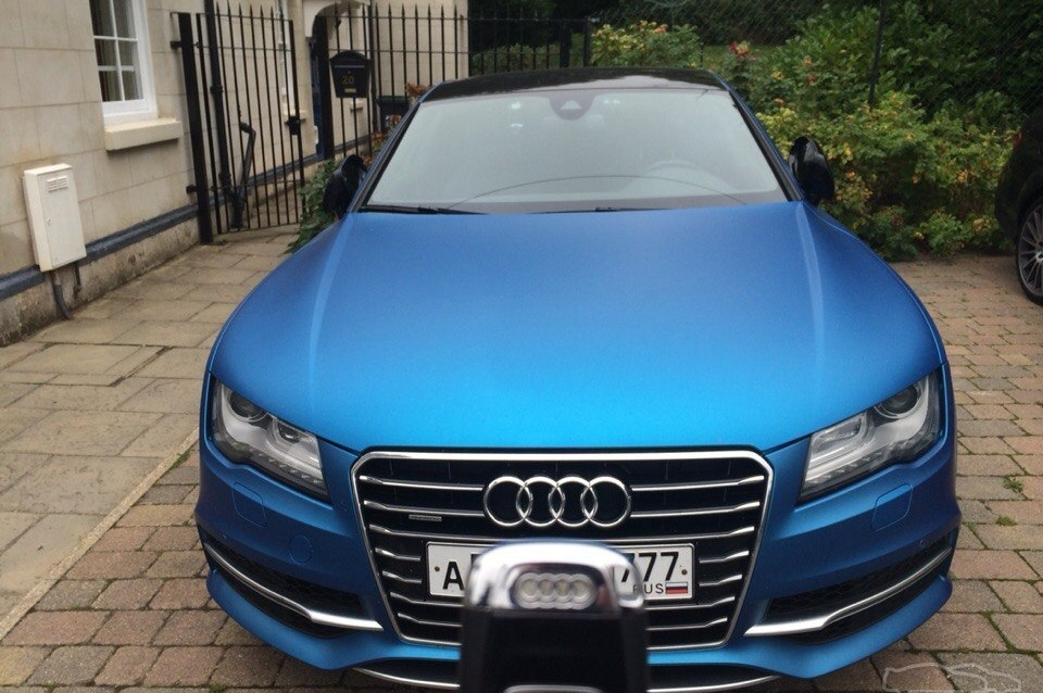 Audi s7 blue one
