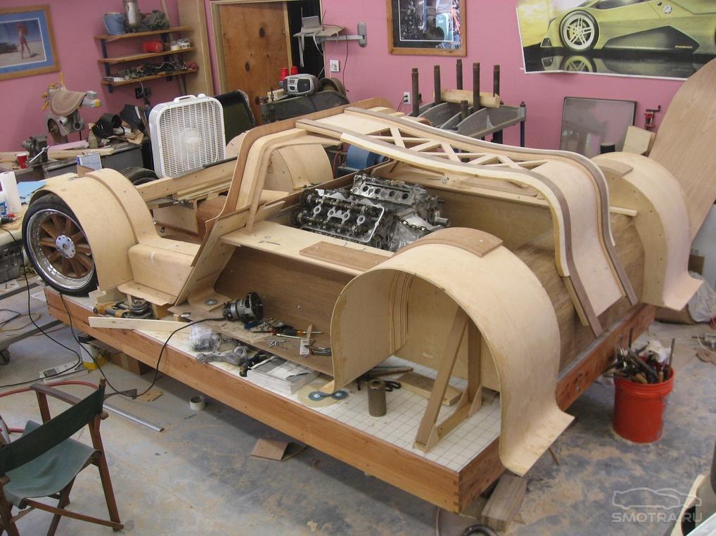 Как сделать большую машину деревянную макет