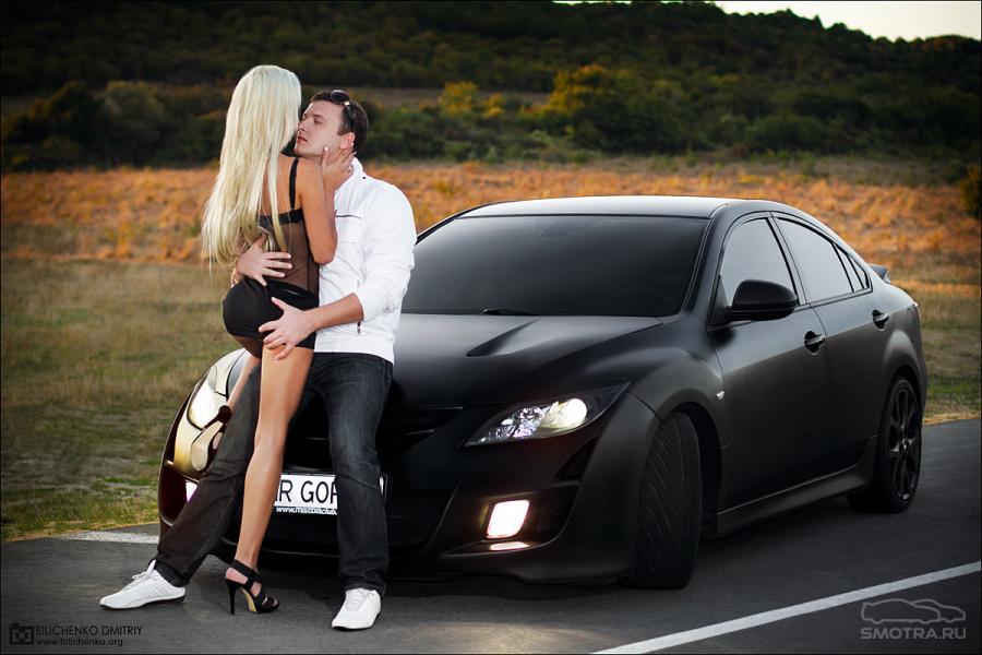 фото девушки около машины