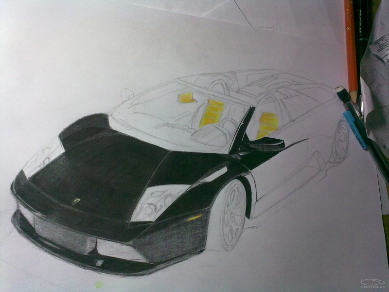 рисунки карандашом машин гоночных: