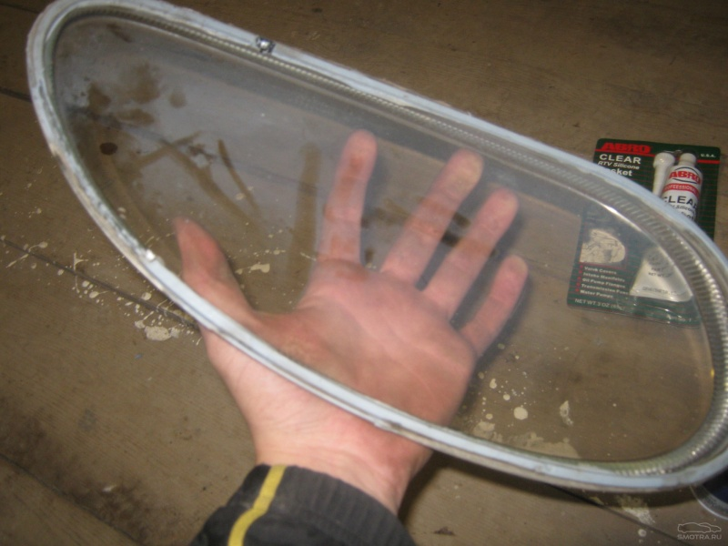Как заменить стекло фары на гранте