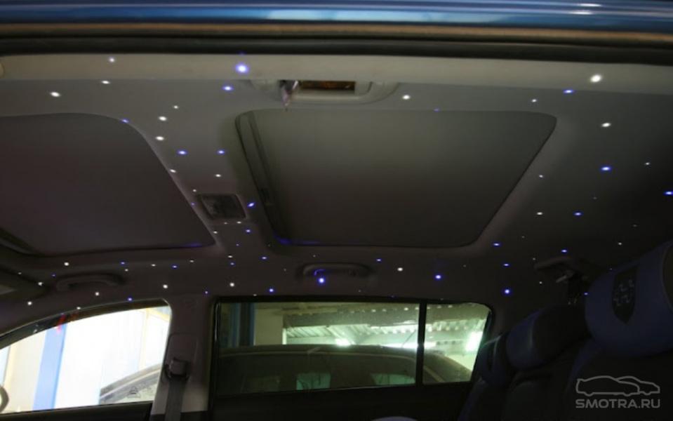 Как сделать звездный потолок в машине своими руками 5