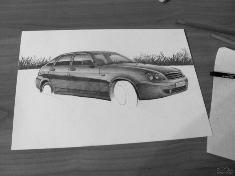 Машины как рисовать с горизонтами
