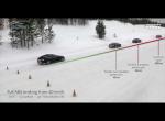 Тормозной путь Tesla model S на льду с разными типами шин