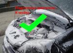 Мойка двигателя автомобиля - подготовка